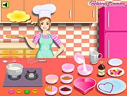 Barbie Cooking: Valentine Blancmange game
