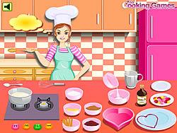 Gioca gratuitamente a Barbie Cooking - Valentine Blanc Mange