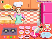 Play Barbie cooking valentine blanc mange Game