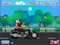 Risky Motorcycle Kissing game
