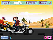 Play Risky motorcycle kissing Game