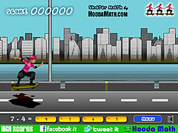 Skater Math game