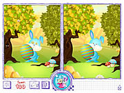 Easter Bunny Differences game