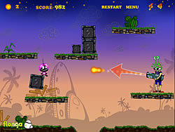 Silly Bombs and Space Invaders game