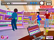 Play Supermarket kissing Game