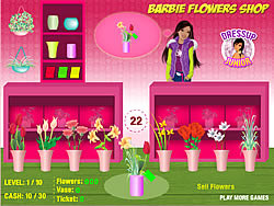 Barbie Flowers Shop game