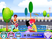 Play Seaside kissing Game
