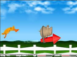 Играть бесплатно в игру Pig on the Rocket