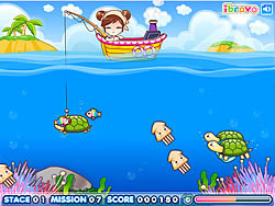 玩免费游戏 Sue Fishing Queen
