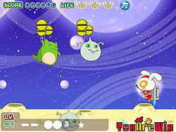 Cute Rabbit vs Monsters game
