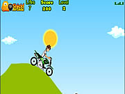 Play Ben 10 bike trip Game