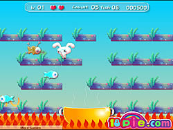 Rabbit Catch Fish game