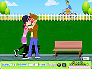 Play Teen lovers kiss Game