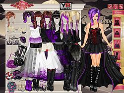 Gioca gratuitamente a Goth Bride Dress Up