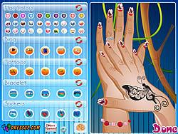 Juega al juego gratis Beautiful Nail Design