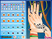 Play Beautiful nail design Game