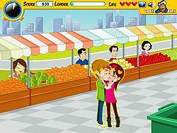Market Kiss game
