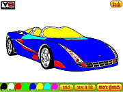 Coloring 16 Cars game