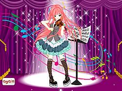 Violin Girl Dress Up game