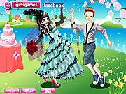 Play Emo bride dress up Game