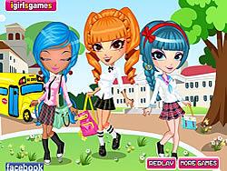 เล่นเกมฟรี Cutie Trend School Girl Group Dress Up