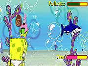 Play Sponge bob square pants shell throwing Game