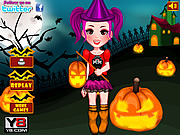 Play Halloween girl dressup Game