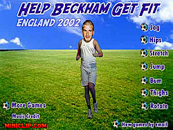 Help Becham Get Fit game