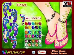 Beautiful Foot Manicure game