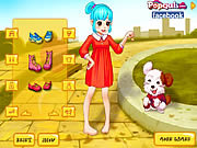 Play Cute girl and puppy Game
