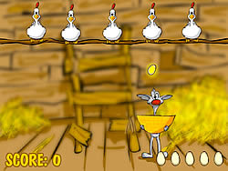 Binki on the Chicken Farm game