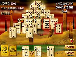Jogar jogo grátis Pyramid Solitaire Mummy's Curse