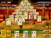 Play Pyramid solitaire mummy s curse Game