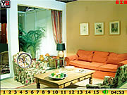 Play Hidden numbers living room Game