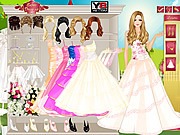 Play Glam bride dress up Game