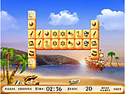 Play Carribean pirates mahjong Game
