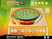 Play Delicious vegetable pizza Game