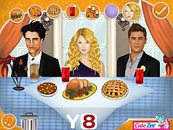Permainan Thanksgiving Dinner With Justin And Selena