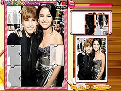 Justin Bieber And Selena Gomez Puzzle game