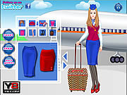 Play Glamorous air hostess Game