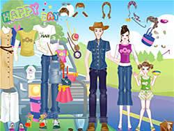 Spielen Sie das Gratis-Spiel  Happy Days Dress-up