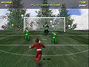 Play Santa s footy challenge Game