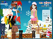 Play Winter dress up Game