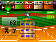 Jugar Batter s up baseball multiplication Juego