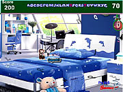 Play Kids blue bedroom hidden alphabets Game