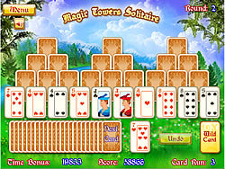 玩免费游戏 Magic Towers Solitaire