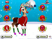 Play Christmas reindeer dress up Game