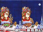 Snowy Christmas 5 Differences game