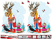 Play Snow christmas 5 differences Game