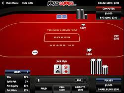 Texas Holdem Poker Heads Up game
